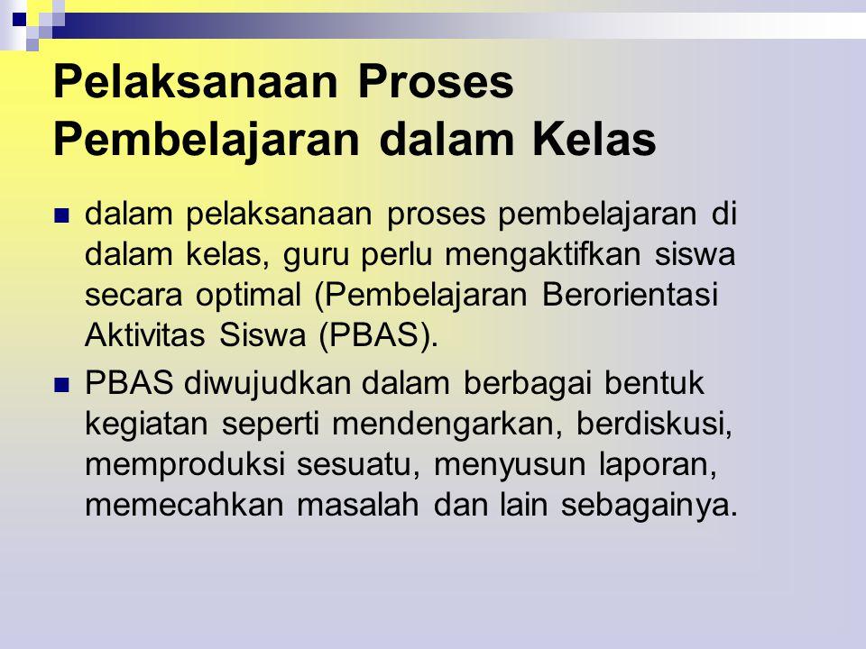 a.Kadar PBAS Dilihat dari Proses Perencanaan.