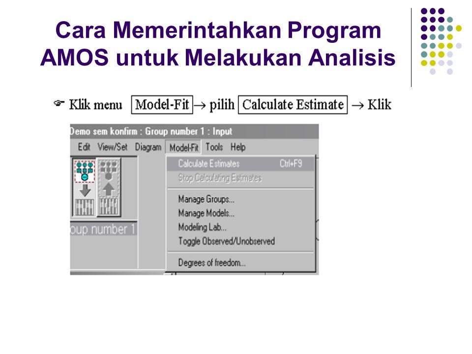 Cara Memerintahkan Program AMOS untuk Melakukan Analisis