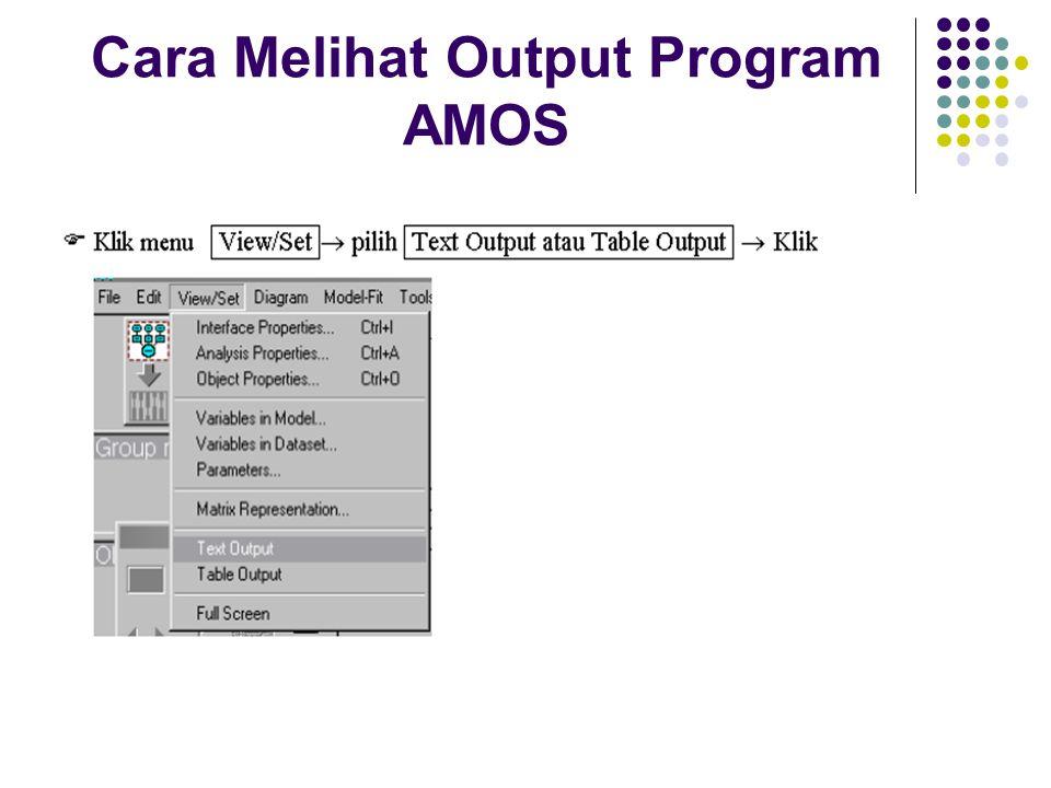 Cara Melihat Output Program AMOS