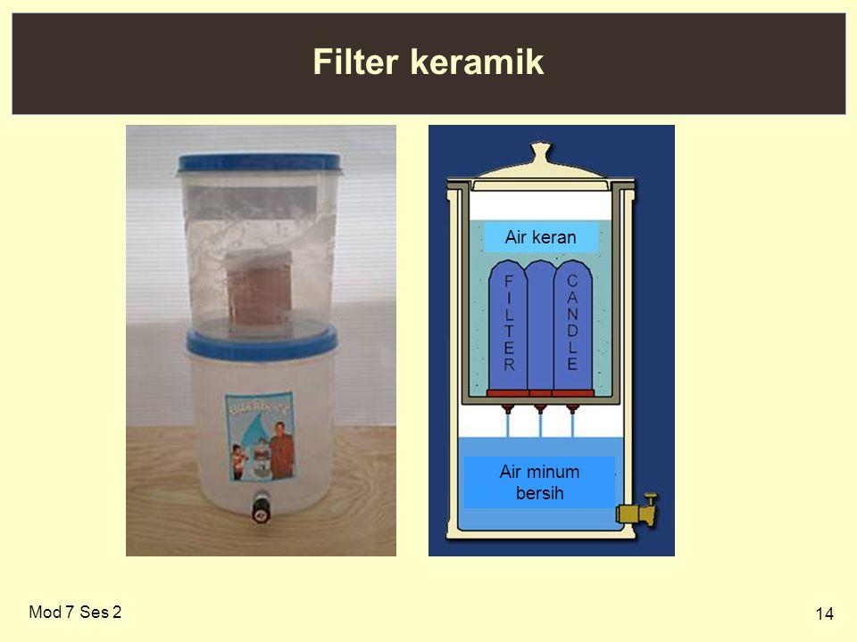 14 Filter keramik Mod 7 Ses 2 Air minum bersih Air keran