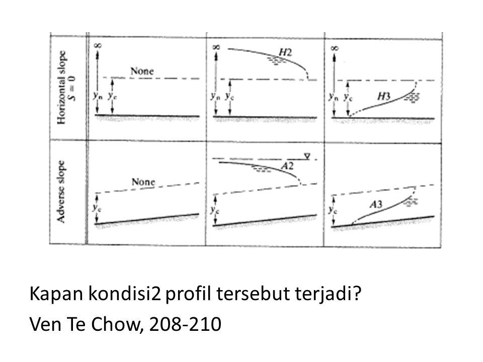Kapan kondisi2 profil tersebut terjadi? Ven Te Chow, 208-210