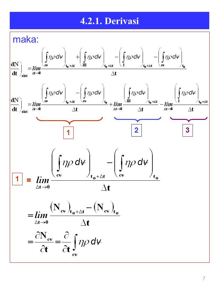 4.2.1. Derivasi 7 maka: = 1 23 1