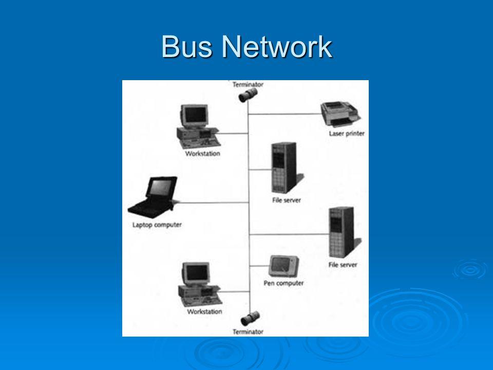 Topologi BUS Topologi bus ini merupakan topologi yang banyak digunakan di awal penggunaan jaringan komputer karena topologi yang paling sederhana dibandingkan dengan topologi lainnya.