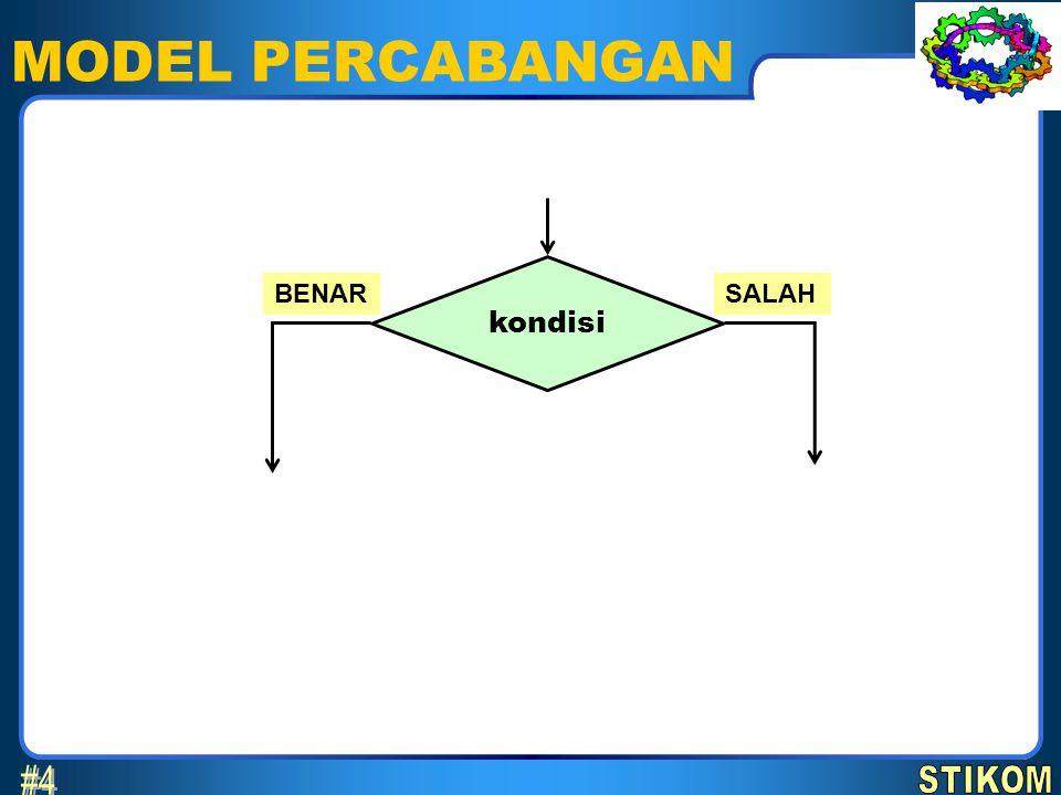 MODEL PERCABANGAN kondisi BENARSALAH