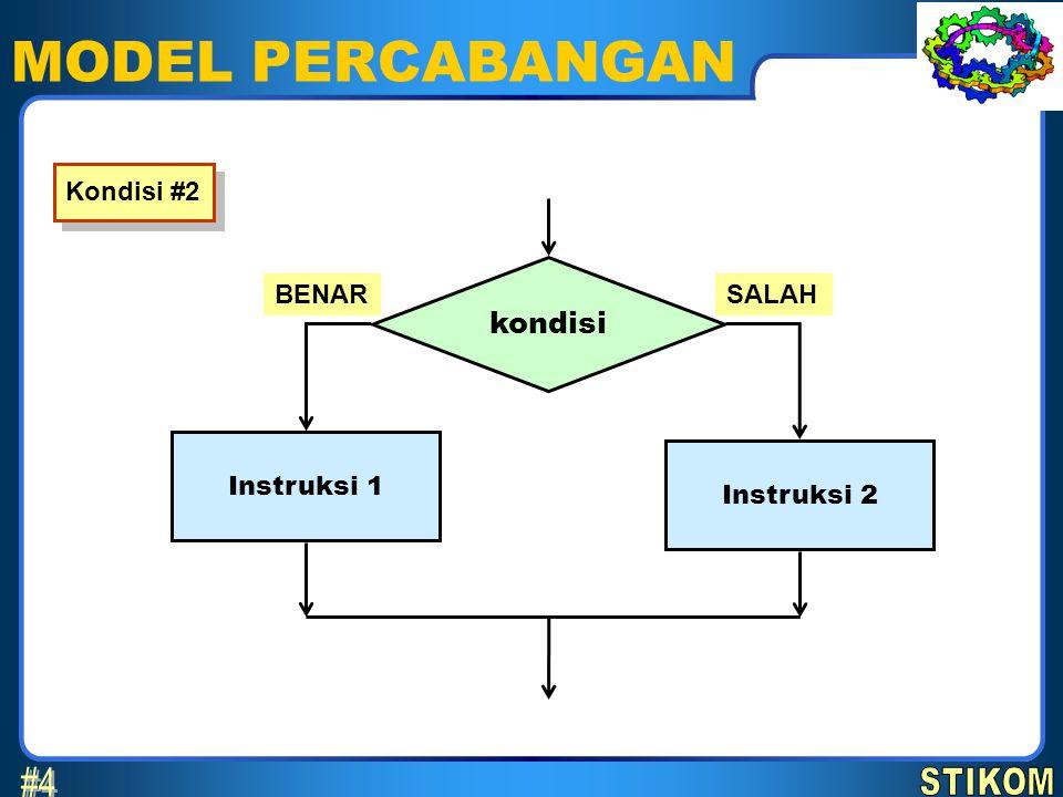 SELECTION 1.SELECTION merupakan model penulisan instruksi bercabang secara singkat.