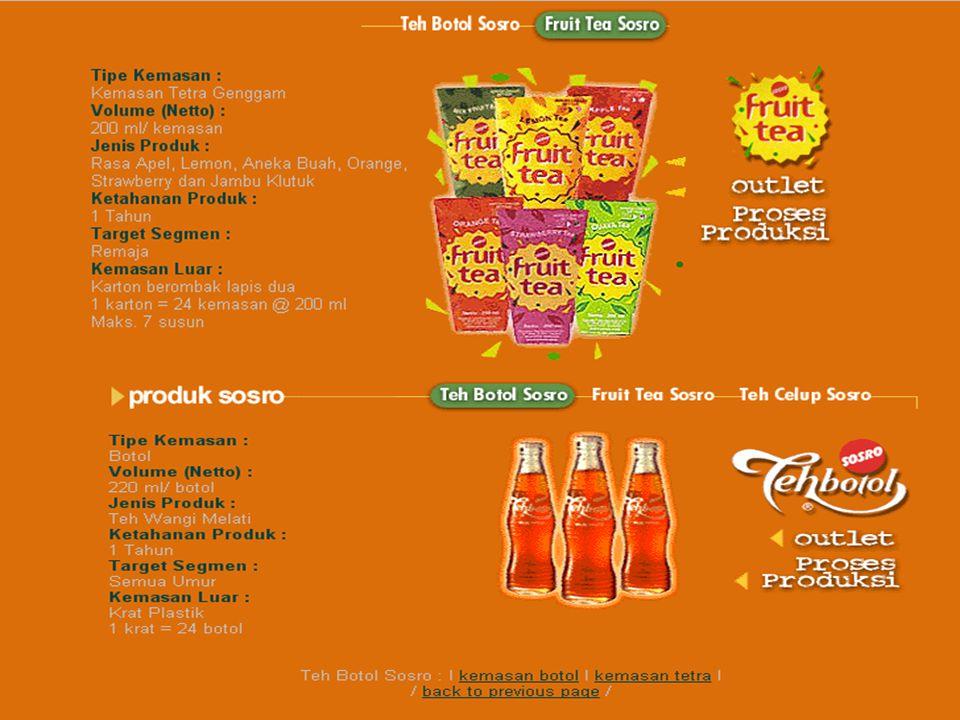 Pentargetan teh sosro Teh sosro melakukan pentargetan secara undifferentiated marketing karena Teh Sosro menggunakan strategi dimana mengabaikan pembe