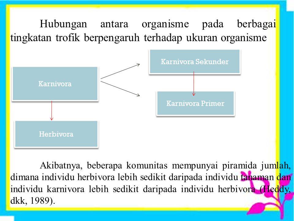 Organisme - organisme dan kemampuannya tergantung pada aliran energi dan zat-zat yang dapat dimanfaatkan sebagai alat bantu untuk memproduksi materi o