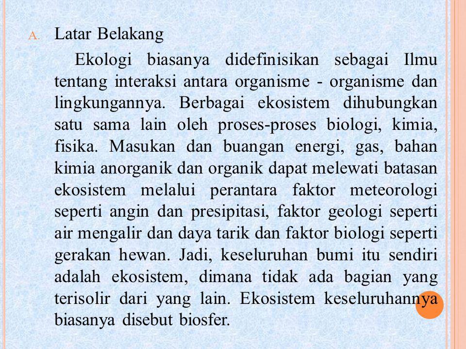 Siklus biogeokimia atau siklus organik-anorganik adalah siklus unsur atau senyawa kimia yang mengalir dari komponen abiotik ke biotik dan kembali lagi ke komponen abiotik.