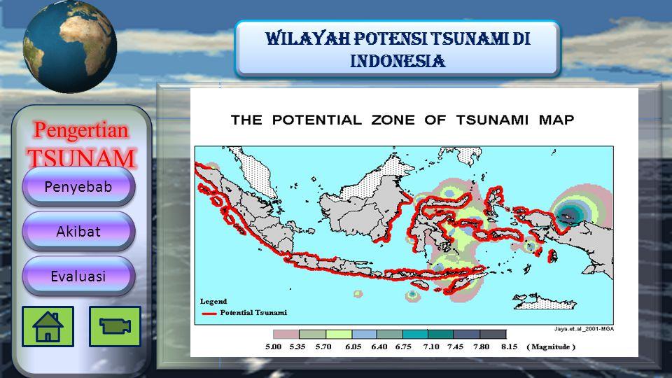 Penyebab Akibat Evaluasi Wilayah Potensi Tsunami di indonesia