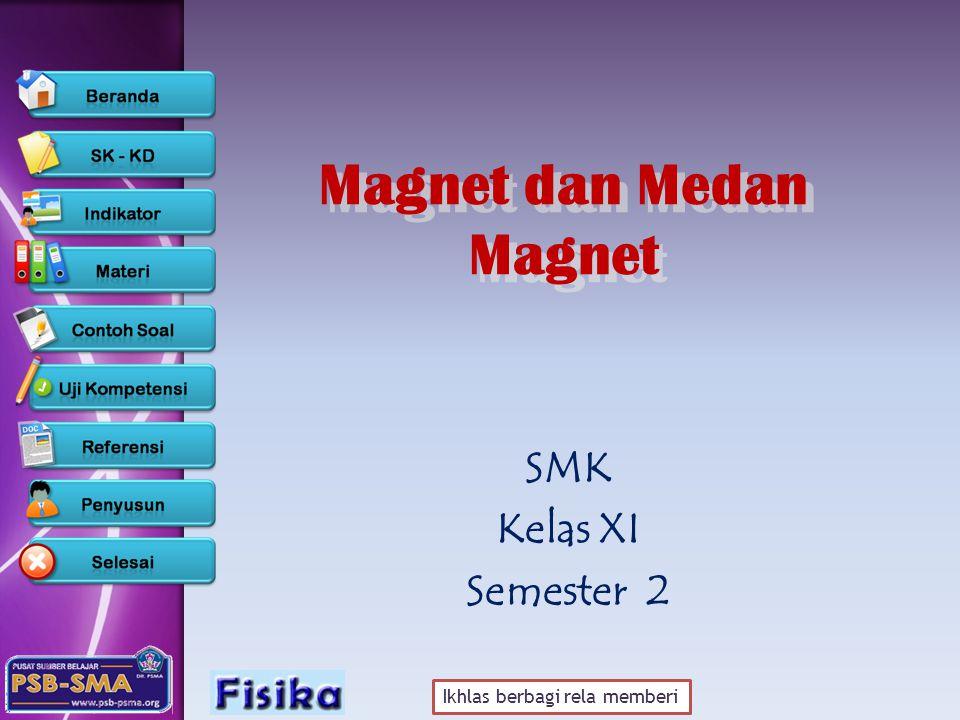 Ikhlas berbagi rela memberi Magnet dan Medan Magnet Magnet dan Medan Magnet SMK Kelas XI Semester 2