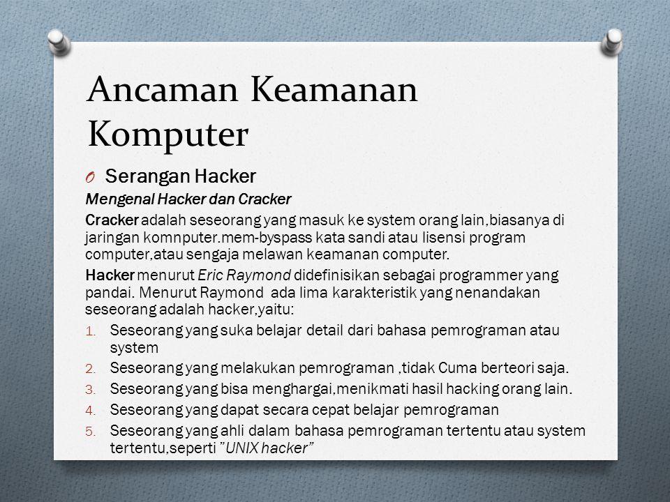 Ancaman Keamanan Komputer Cara Kerja Hacker 1.Footprinting.