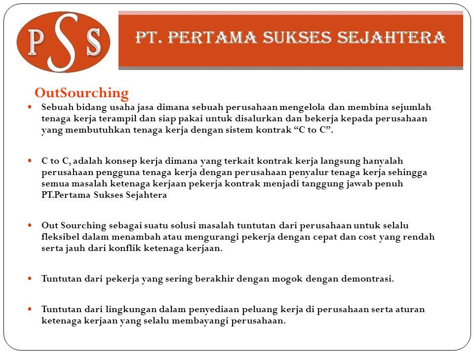OutSourching  Sebuah bidang usaha jasa dimana sebuah perusahaan mengelola dan membina sejumlah tenaga kerja terampil dan siap pakai untuk disalurkan
