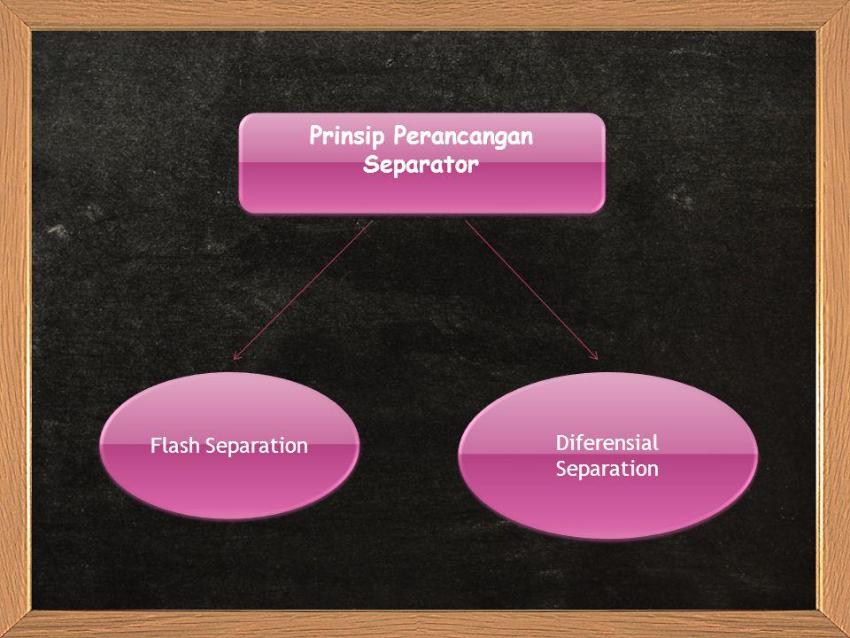 Prinsip Perancangan Separator Flash Separation Diferensial Separation