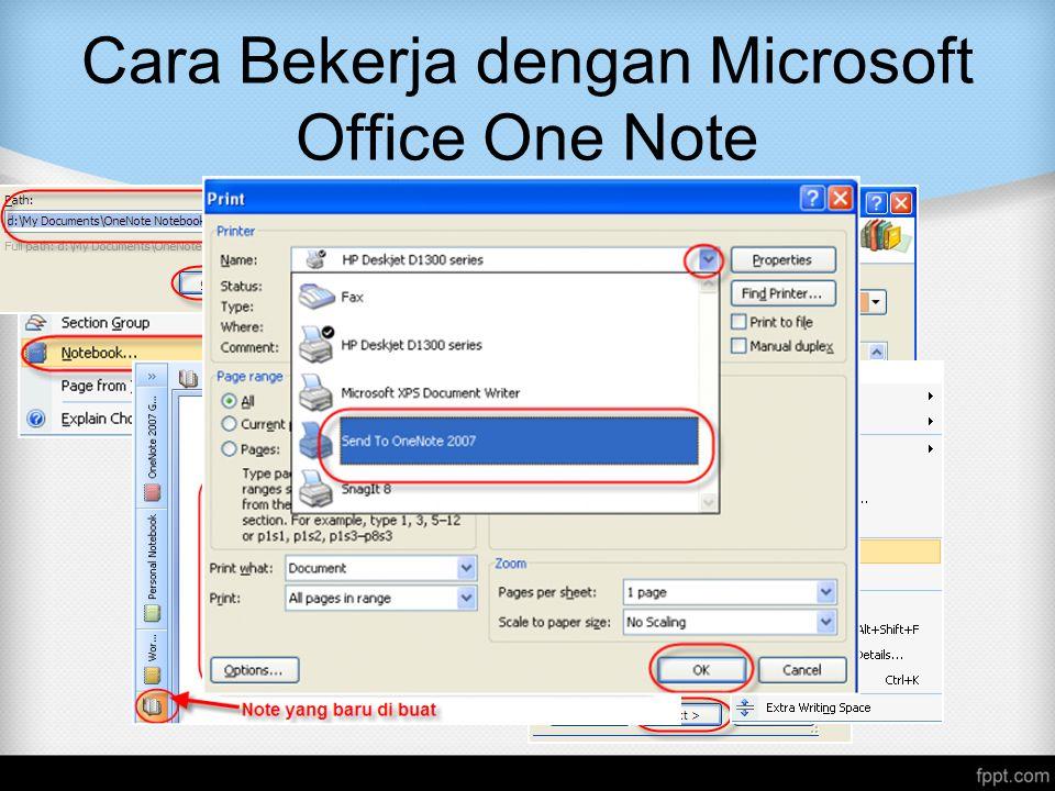 Cara Bekerja dengan Microsoft Office One Note