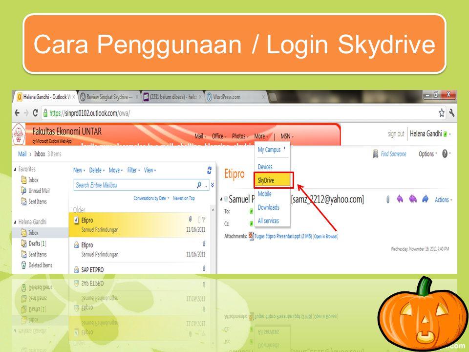 Skydrive Excel Keunggulan Skydrive Excel : -Penampilan lebih simple dibandingan ms excel biasa, karena menu hanya terlihat file, menu, insert & view saja.