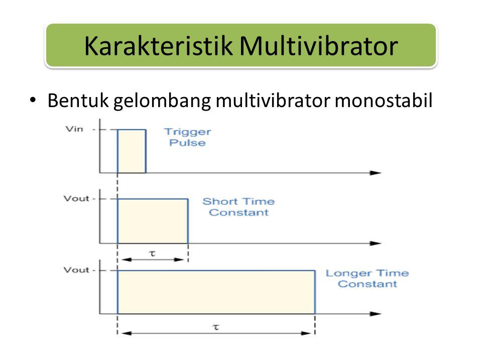• Bentuk gelombang multivibrator monostabil Karakteristik Multivibrator