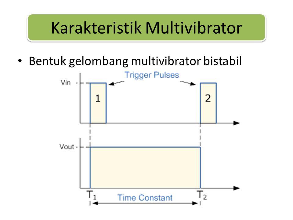 • Bentuk gelombang multivibrator bistabil Karakteristik Multivibrator