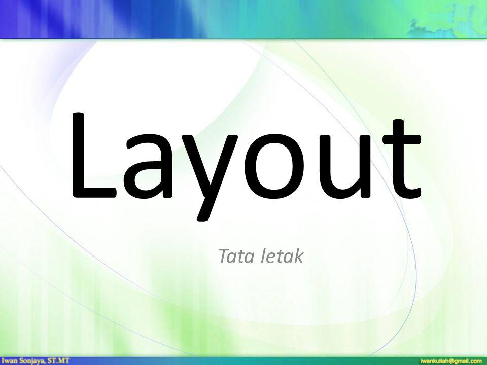 Layout Tata letak