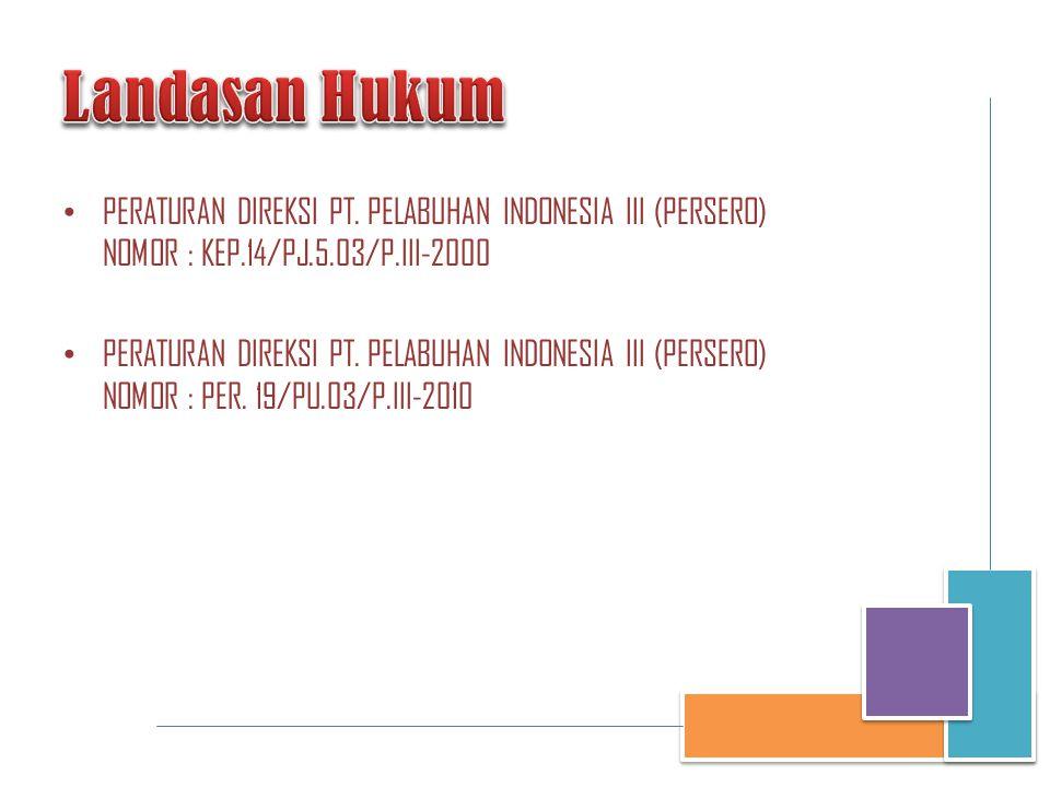• PERATURAN DIREKSI PT. PELABUHAN INDONESIA III (PERSERO) NOMOR : KEP.14/PJ.5.03/P.III-2000 • PERATURAN DIREKSI PT. PELABUHAN INDONESIA III (PERSERO)