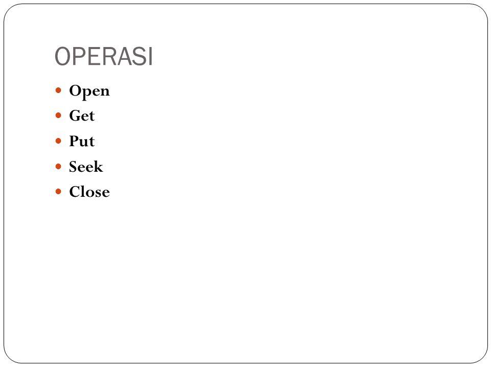 FileSystemObject  Operasi:  GetFile  CopyFile  DeleteFile  MoveFile  FileExists  CreateFolder  CreateTextFile  OpenTextFile