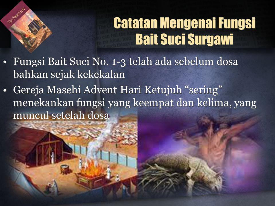 Catatan Mengenai Fungsi Bait Suci Surgawi •Fungsi Bait Suci No.