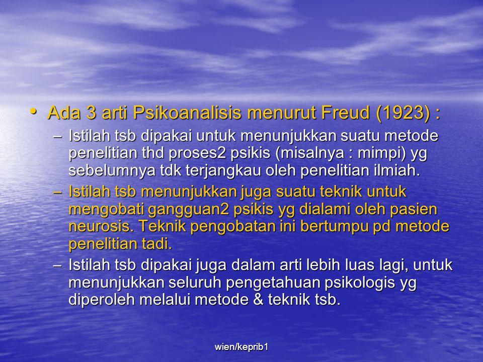 • Pemikiran2 Freud turut menentukan cara kita memandang dunia & diri kita sendiri. • Penemuan tentang 'Psikoanalisis' (1896) membuat nama Freud terken