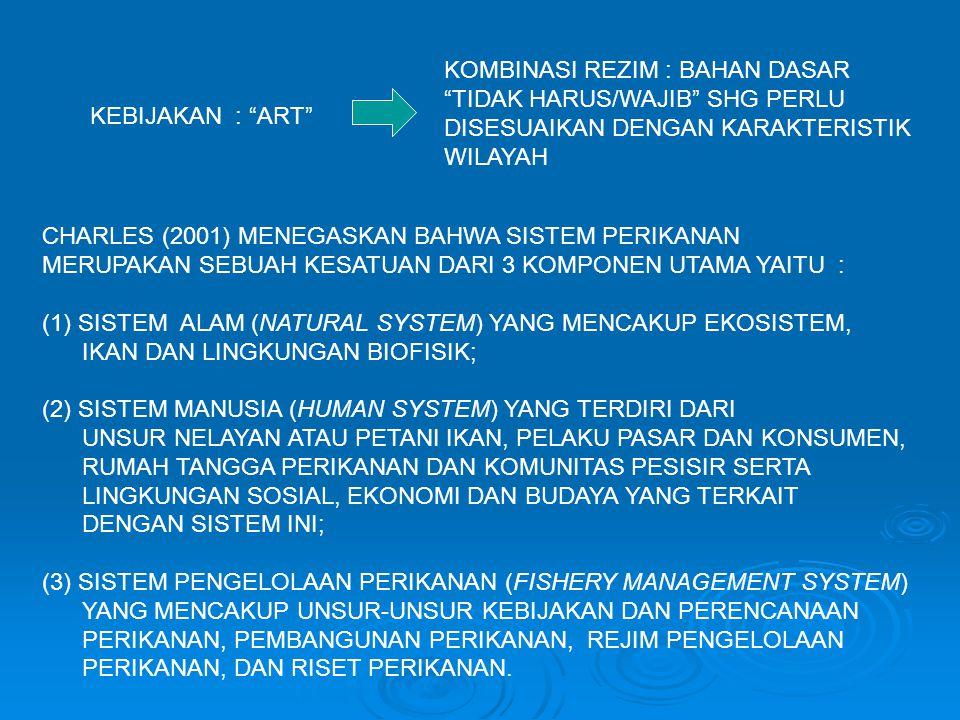"""KEBIJAKAN : """"ART"""" KOMBINASI REZIM : BAHAN DASAR """"TIDAK HARUS/WAJIB"""" SHG PERLU DISESUAIKAN DENGAN KARAKTERISTIK WILAYAH CHARLES (2001) MENEGASKAN BAHWA"""