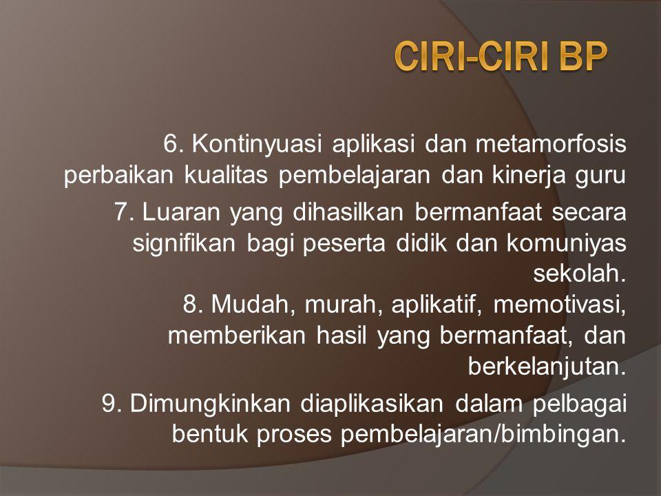 1.Berfokus pada TUSI utama guru 2.