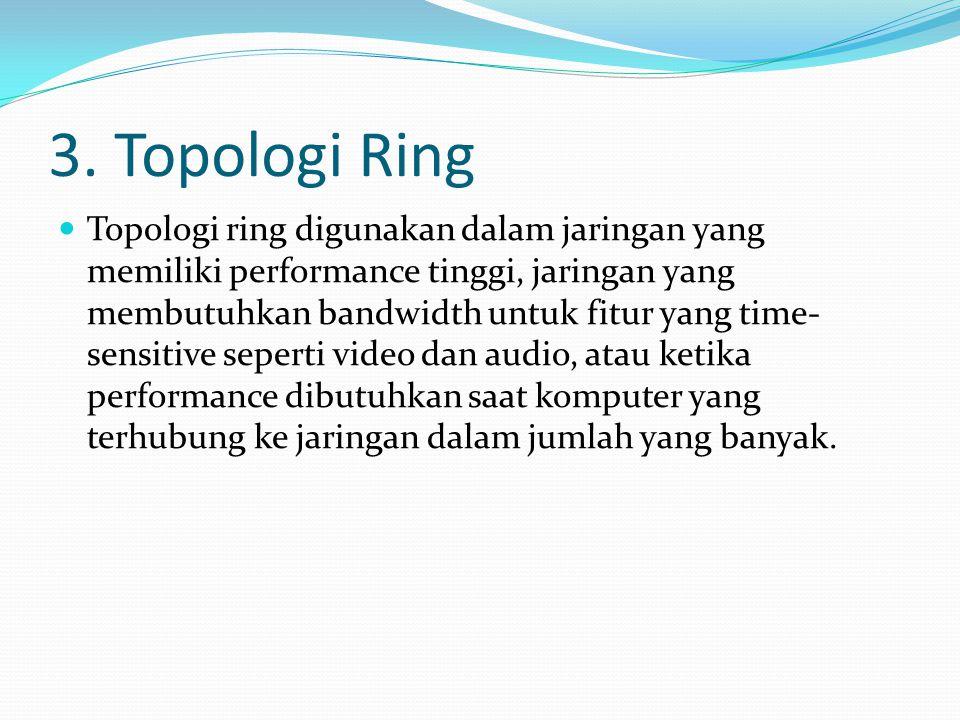 2. Topologi star  Topologi bintang atau yang lebih sering disebut dengan topologi star. Contoh alat yang di pakai disini adalah hub, switch, dll