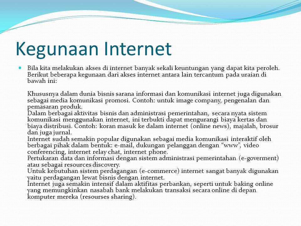 Pengertian Intranet  Intarnet adalah jaringan komputer-komputer yang saling tersambung digunakan suatu sistem organisasi. Misalnya: jaringan komputer