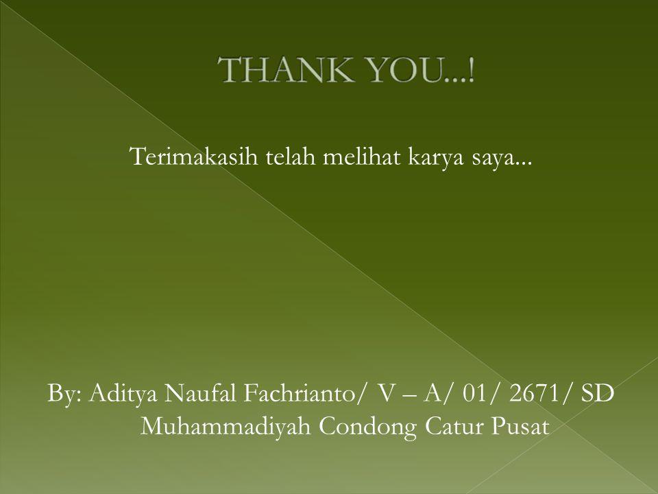 Terimakasih telah melihat karya saya...