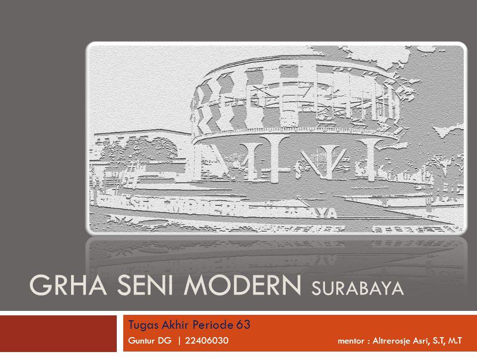 GRHA SENI MODERN SURABAYA Tugas Akhir Periode 63 Guntur DG | 22406030 mentor : Altrerosje Asri, S.T, M.T