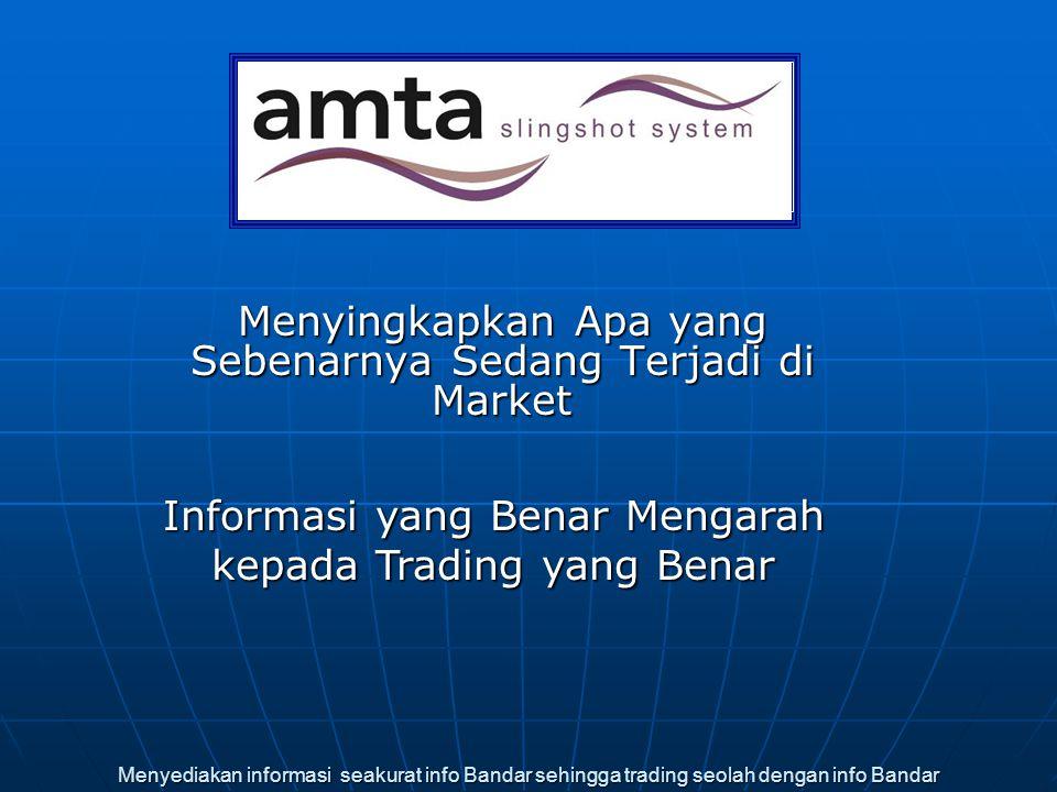 Menyediakan informasi seakurat info Bandar sehingga trading seolah dengan info Bandar Menyingkapkan Apa yang Sebenarnya Sedang Terjadi di Market Infor
