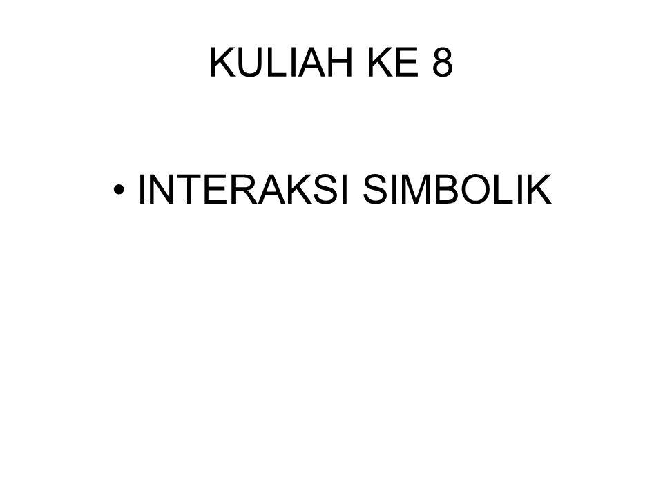 KULIAH KE 8 •INTERAKSI SIMBOLIK
