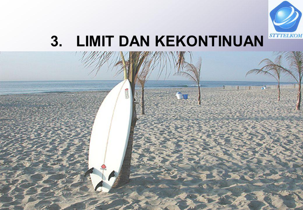 12 Soal Latihan 1.Diketahui : a.Hitung dan b. Selidiki apakah ada, jika ada hitung limitnya 2.