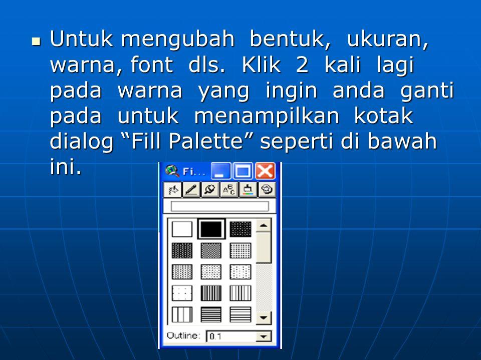  Untuk mengubah bentuk, ukuran, warna, font dls.
