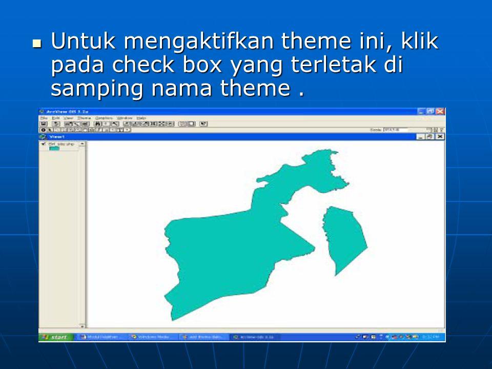  Untuk mengaktifkan theme ini, klik pada check box yang terletak di samping nama theme.