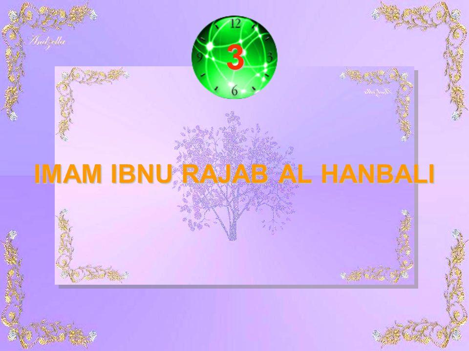 IMAM IBNU RAJAB AL HANBALI 3