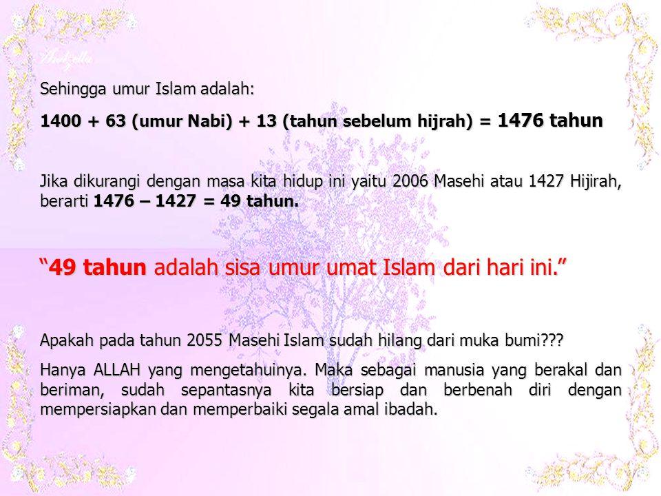 Hadis diatas diriwayatkan dari Ibnu Umar oleh Imam Bukhari.