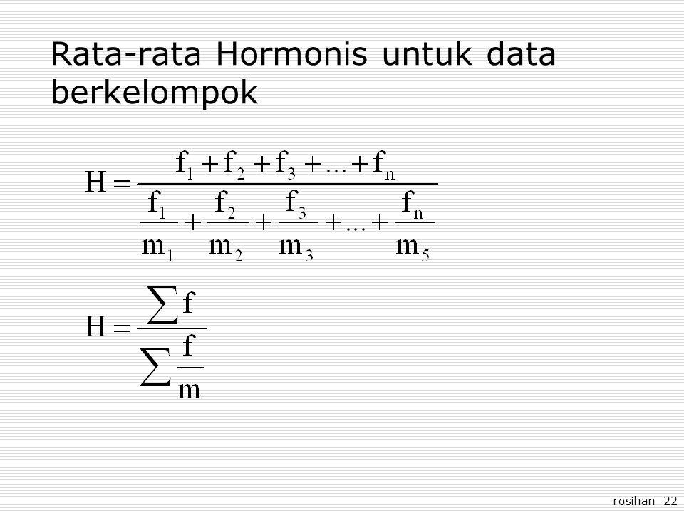 rosihan 22 Rata-rata Hormonis untuk data berkelompok