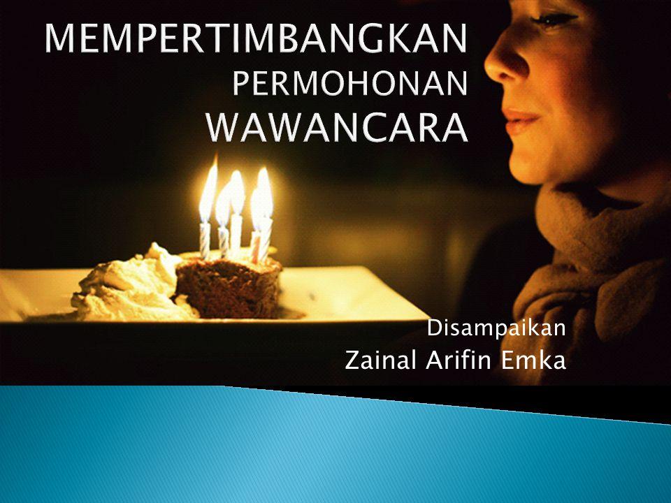 Disampaikan Zainal Arifin Emka