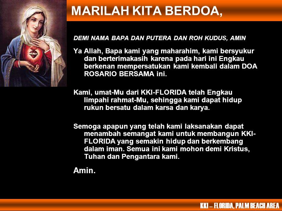 PERISTIWA MULIA KELIMA Maria dimahkotai di Surga Bapa kami yang ada disurga; Dimuliakanlah namaMu.