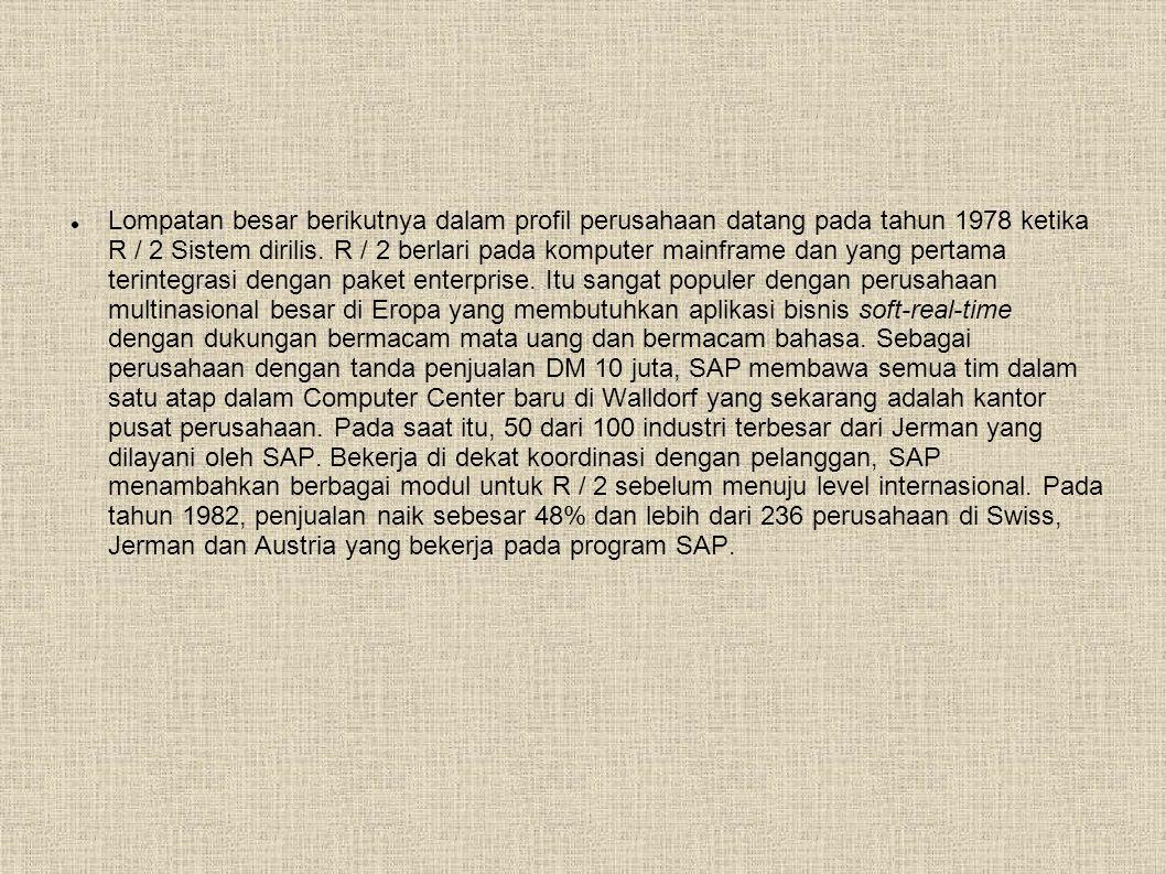  Lompatan besar berikutnya dalam profil perusahaan datang pada tahun 1978 ketika R / 2 Sistem dirilis.