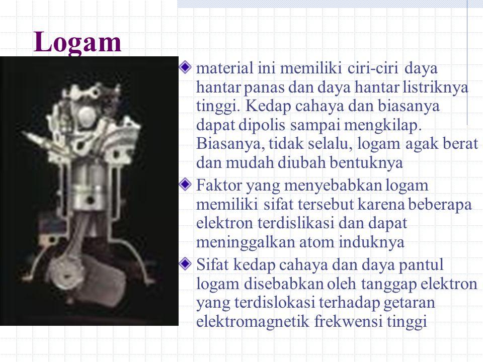 Logam material ini memiliki ciri-ciri daya hantar panas dan daya hantar listriknya tinggi.