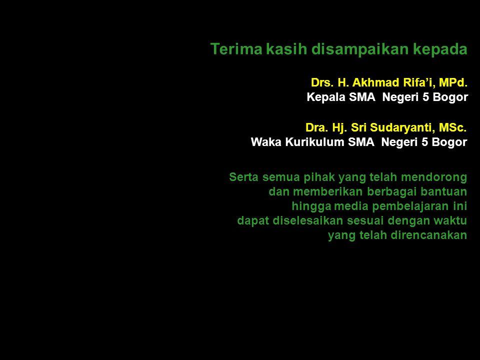 Asep Zaenal Rahmat (Guru Matematika) SMA Negeri 5 Bogor Jl. Manunggal No. 22 Bogor BOGOR 16111 Ananda Gelimang Kencana (Siswa Kelas X-F) Telepon (0251