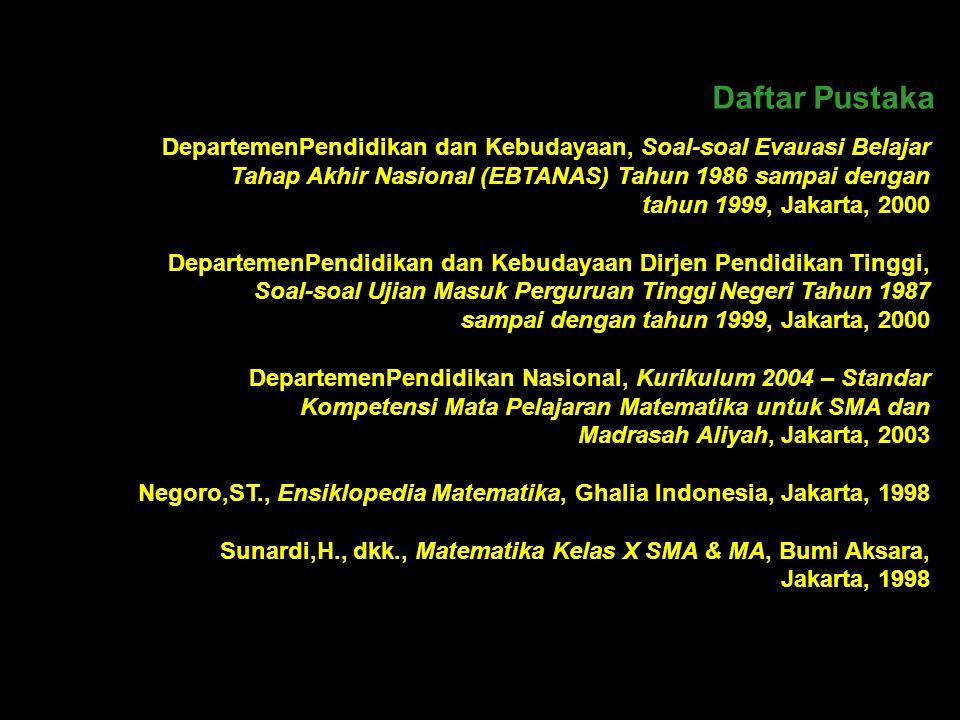 Terima kasih disampaikan kepada Drs. H. Akhmad Rifa'i, MPd. Kepala SMA Negeri 5 Bogor Dra. Hj. Sri Sudaryanti, MSc. Waka Kurikulum SMA Negeri 5 Bogor