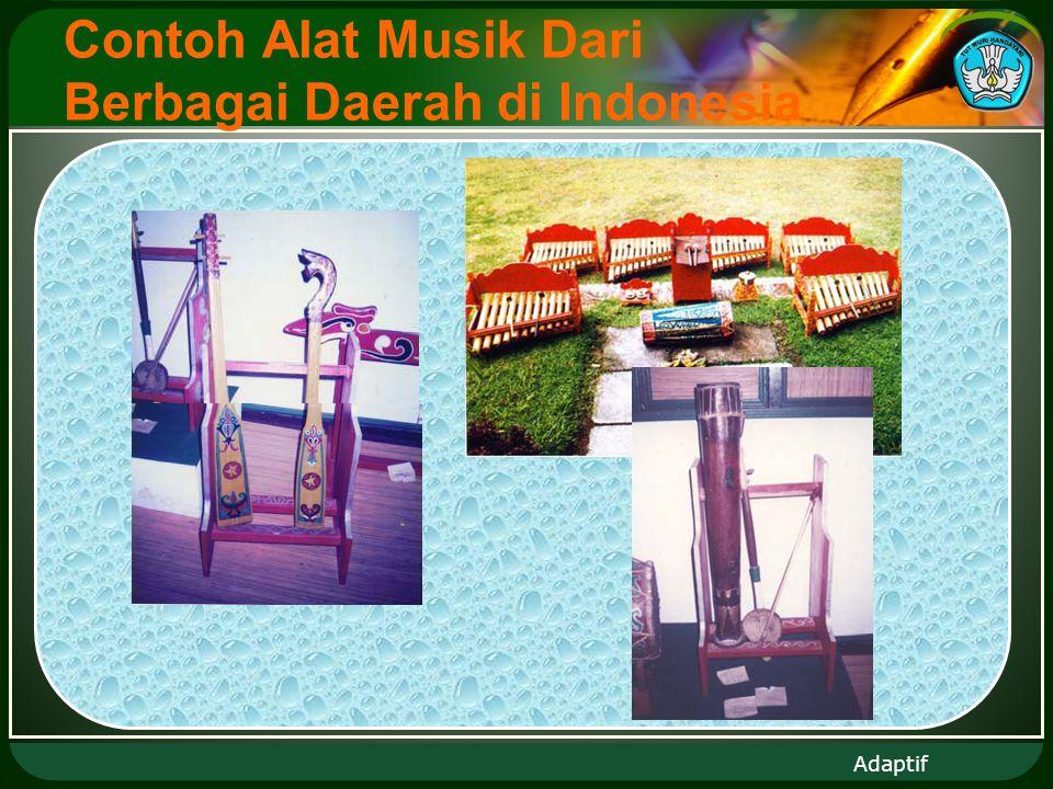 Adaptif Contoh Alat Musik Dari Berbagai Daerah di Indonesia