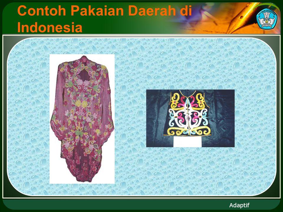 Adaptif Contoh Pakaian Daerah di Indonesia