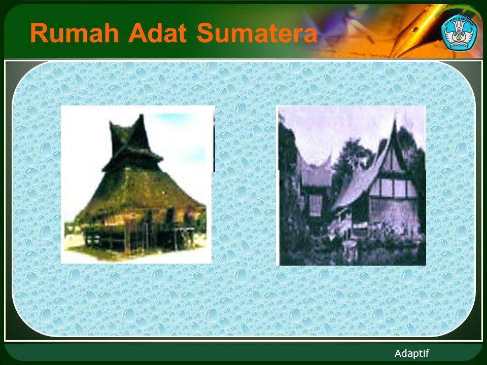 Adaptif Rumah Adat Sumatera