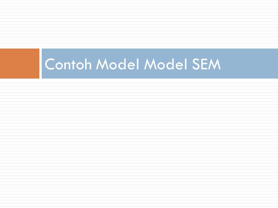Contoh Model Model SEM